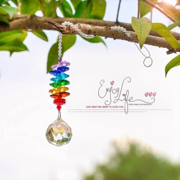 H & D kryształ Chakra słońce łapacze kryształy do żyrandola piłka pryzmat wisiorek Rainbow Maker wiszące Chakra kaskada Suncatch