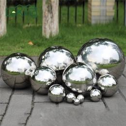 Wysoki połysk brokat ze stali nierdzewnej Ball kula lustro Hollow Ball dekoracja do przydomowego ogrodu dostarcza Ornament 19mm