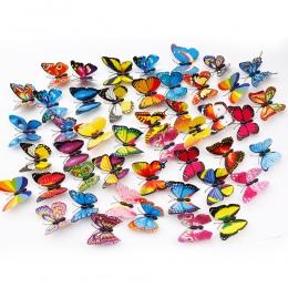 3D 20 sztuk/zestaw kolorowe motyl kije domu stoczni trawnik doniczka roślin ozdoba ozdobny ogród Ornament DIY trawnik Craft