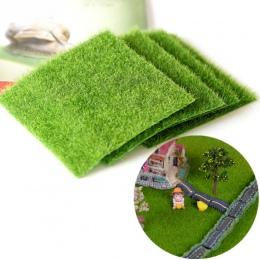 Sztuczny trawnik trawy miniaturowy ogród ozdoba DIY grzyb Craft Pot bajki fałszywy mech na ślub Xmas Party Decor 15*15 cm