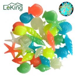 50 Sztuk Kolorowe Świetliste W Kształcie Muszli Rozgwiazdy Świecące Kamienie Dekoracyjne Dla Garden Pool Aquarium Fish Tank Pejz