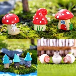 3 sztuk/zestaw wazon dom miniaturowy bajkowy ogród mikro krajobrazu wystrój domu DIY Ornament