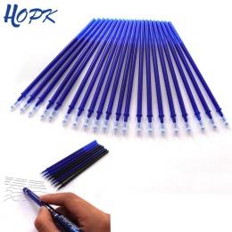 20 sztuk/zestaw biuro długopis żelowy wymazywalnej napełniania pręt kasowalna długopis nadający się do prania uchwyt 0.5mm niebi