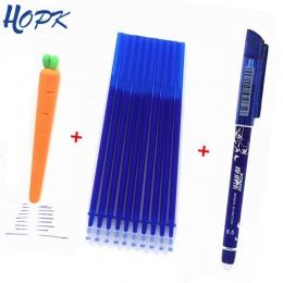 12 sztuk/partia wymazywalnej długopis napełniania pręt 0.5mm niebieski/czarny/czerwony atrament długopis żelowy nadający się do