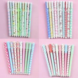 10 sztuk kolor długopis pióra żelowe długopis Kawaii Boligrafos Kawaii Canetas Escolar śliczne koreański biurowe