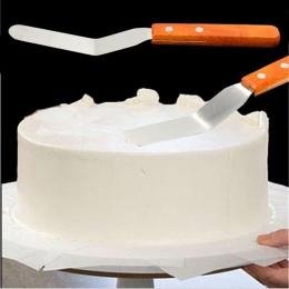 1 sztuk szpatułki ze stali nierdzewnej uchwyt z tworzywa sztucznego zakrzywione lukier krem łopatka ciasto szczypce do zdejmowan
