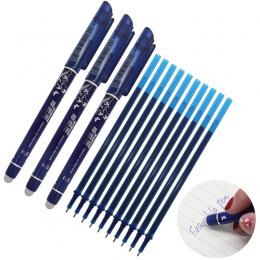 Wymazywalnej długopis napełniania 20 sztuk/zestaw biurowe długopis żel 0.5mm pręt magiczne zmazywalne pióro niebieski/czarny atr