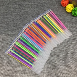 12 24 36 48 kolorów/zestaw Flash długopis żel podświetlenia kolor napełniania pełna Shinning do napełniania malarstwo długopis r
