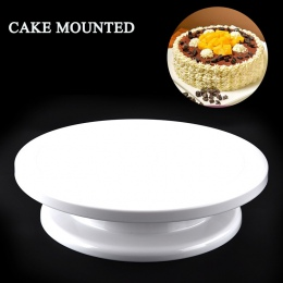 BEEMSK z tworzywa sztucznego ciasto stojak ciasto gramofon może ręcznie obrócić okrągłe plastikowe ciasto gramofon kwiaty do skł