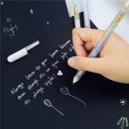 0.8mm biały atrament kolorowy Album fotograficzny długopis papiernicze biurowe nauka ładny długopis Unisex długopis na prezent d