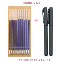 Długopis 0.5mm długopis 2 + 10 Box materiały biurowe akcesoria Test niebieski czarny czerwony atrament nauki pisania artykuły pa