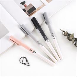 4 sztuk/zestaw śliczne długopisy żelowe kolorowy atrament kot długopis świeże Kawaii długopis szkoła Canetas Boligrafos prezent