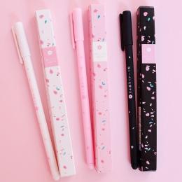 Romantyczny Sakura długopis żelowy pióro kulkowe szkolne materiały biurowe szkolne materiały papiernicze podpisywanie pióro czar