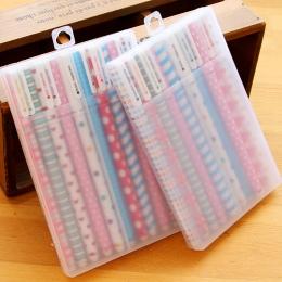 10 sztuk/paczka kolor długopis żelowy Cartoon zwierząt Starry gwiazda słodkie kwiatowe długopisy 0.38mm długopis artykuły papier