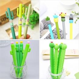 1 pc kaktus długopisy żelowe Kawaii zielone rośliny pióro neutralne śliczne długopisy szkolne biurowe pisanie prezenty koreański