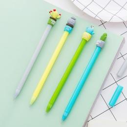 Kawaii kaktus kształt długopis żelowy DIY artykuły biurowe i szkolne Smooth pisanie czarny i niebieski atrament 0.5mm długopis 1