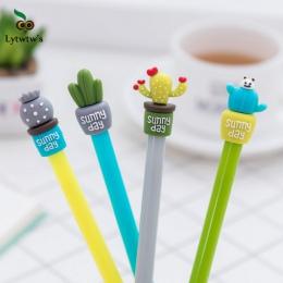 1 sztuk Lytwtw's koreański biurowe śliczne kaktus pióro reklama długopis żelowy szkoła moda biuro Kawaii dostaw