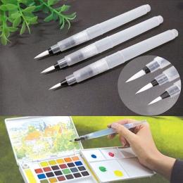 3 sztuk/zestaw rysunek malarstwo ilustracja pióro wielokrotnego napełniania pędzel wodny pióro atramentowe do wody kolor pisania