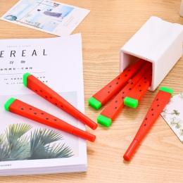1 sztuk śliczne Kawaii arbuz długopis żelowy pisanie podpisanie długopis szkolne materiały biurowe szkolne materiały papiernicze