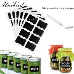 Unibird 32 sztuk/zestaw tablica etykiety z biały kredowy przyprawa kuchenna słoiki organizator etykiety wielokrotnego zapisu tab