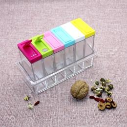 Spice Jar pudełko do przypraw 6 sztuk/zestaw przyprawa kuchenna butelka do przechowywania słoiki przezroczyste sól pieprz kminku
