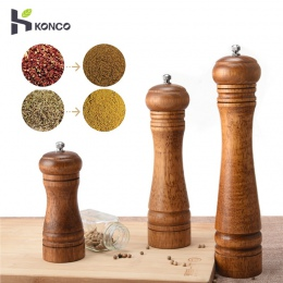 KONCO drewna sól i pieprz młyny Shakers, drewniane do przypraw i młynki do pieprzu do, instrukcja obsługi zakładów, w których re