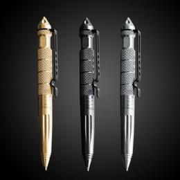 1 sztuk GENKKY wielofunkcyjny długopis taktyczne wolframu stali nierdzewnej obrotowy Unisex narzędzie pióro szkło okienne metalo