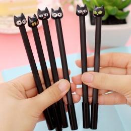 (1 sztuk/sprzedaż) 0.7mm śliczne Kawaii czarna głowa kot Ball długopisy długopis do pisania biurowe szkolne materiały biurowe