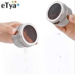 1 sztuk ze stali nierdzewnej magnetyczne wielu celu przyprawy puszki do przechowywania jasne górna pokrywa z przesiać lub wlać m