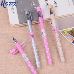 3 sztuk/zestaw kropki serce wymazywalnej długopis niebieski/czarny atrament śliczne długopis Pen 0.38mm do szkoły biurowe pisani