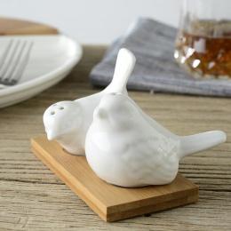 2 sztuk/partia kreatywny miłość ptak projekt soli młynek do pieprzu garnki Cruet kółka ceramiczny pojemnik na przyprawy słoiki g