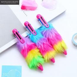 6 kolorów w 1 długopis papiernicze długopis szkolne Kawaii akcesoria biurowe pióra do pisania artykuły papiernicze narzędzie