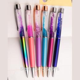 Złoto w proszku gradientu Długopisy wykwintne kreatywne luksusowe wysokiej jakości złoty długopis długopisy prezent materiały st