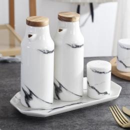 Ceramiczne sól i pieprz oleju zestaw butelek porcelany oliwy z oliwek sojowy przyprawy butelki oleju ocet ślub sprzyja kuchnia g