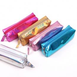 Opalizujący laserowy piórnik jakości PU artykuły szkolne Bts papiernicze prezent piórnik szkoła ładny ołówek Box Bts szkoła narz