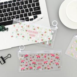 Tajemnicze małe kwiaty zwierzęta pcv wodoodporny ołówek przypadkach magazyn materiałów piśmienniczych biuro szkolne torby ołówko