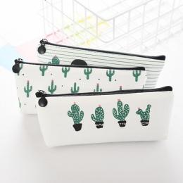 Nowość kaktus szkoła piórnik Kawaii szkolne biurowe piórnik torby torby szkoły i biura