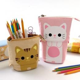 Uroczy piórnik zamek Kawaii kot piórnik chłopcy dziewczęta szkolne szkolne materiały papiernicze prezent dla dzieci Trousse Scol