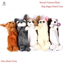 Gorąca sprzedaż Cartoon pluszowy piórnik Kawaii pluszowe pies szczeniak szkolne materiały biurowe ołówek torby dla dzieci biurow