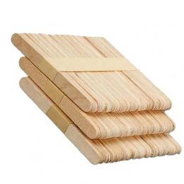 50 sztuk/partia Craft lody kije 6.5 CM drewniane Pop patyczki do lodów z naturalnego drewna ciasto narzędzia dzieci Handwork rze