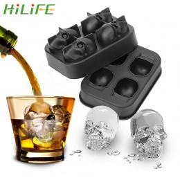 HILIFE kostkarka do lodu czaszki kształt czekolady formy lodu krem DIY narzędzie whiskey wino koktajl kostki lodu 3D silikonowe