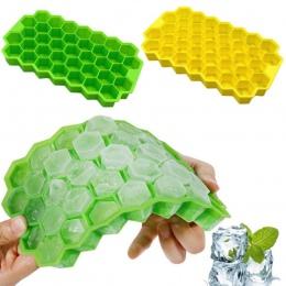 O strukturze plastra miodu kształt kostki lodu 37 kostek, tacka do lodu kostki lodu formy pojemniki do przechowywania taca na ko