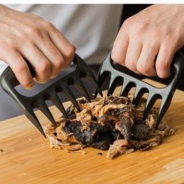 1 para czarny niedźwiedź Grizzly łapy pazury mięso Handler widelec szczypce podnieś Shred wieprzowe BBQ grill narzędzie kuchnia