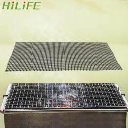 HILIFE pieczenia grill siatki grillowania mata odporność na wysokie temperatury mata do gotowania na parze Pizza Mat czarny non-