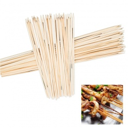 Hoomall 90 sztuk sprzęt do grillowania maty do grilla szaszłyki bambusowe Grill Shish kije drewniane sprzęt do grillowania narzę