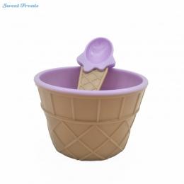 Sweettreats Saingace miska do lodów z łyżeczką piękny zestaw lodowy deser miska wspaniały prezent dla dzieci