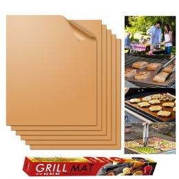2 sztuk/5 sztuk/6 sztuk grill mata do grillowania non-stick grill do pieczenia wkładki wielokrotnego użytku arkusze kuchenne PTF