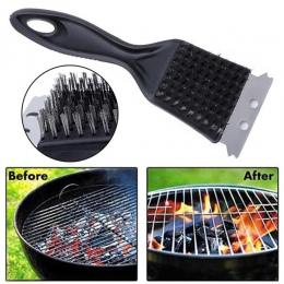 Ze stali nierdzewnej szczotka do czyszczenia grilla Churrasco Grill Grill narzędzia do gotowania przydatne do czyszczenia na zew