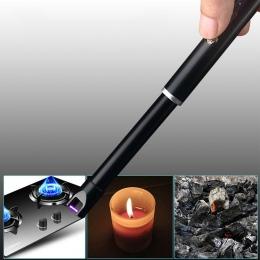 Elektroniczny USB wiatroodporny zapalniczki do grillowania na świeżym powietrzu piec świeca zapalniczki kuchnia palnika narzędzi