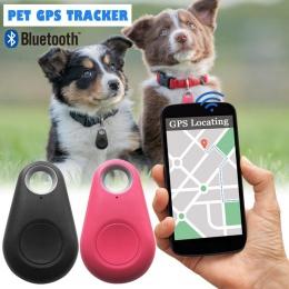 Nowy zwierzęta inteligentne nadajnik Bluetooth GPS dla psa kamery lokalizatora pies przenośny kontroler alarmu dla brelok etui w